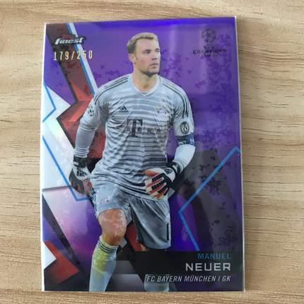[Ed] 2019 Topps 欧冠Finest 球星卡 诺伊尔 Manuel Neuer 拜仁慕尼黑 紫 179/250 NO.7普卡
