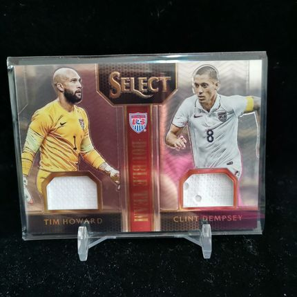 [Ed] 2015 Panini Select 球星卡 霍华德&邓普西 Tim Howard&Clint Dempsey 美国 双球衣 139/199 普通 NO.DT-HD