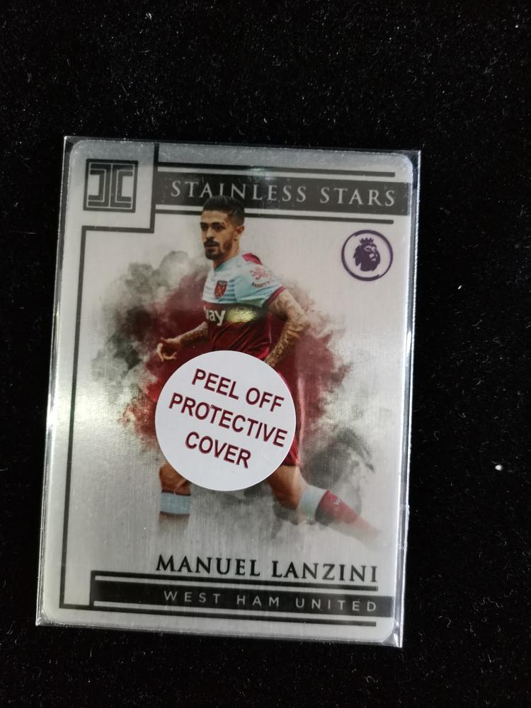 【开心就好】2020 panini 无瑕(小真金)球星卡 兰奇尼 Manuel Lanzini 西汉姆联 金属特卡 34/50编 NO.44 特卡