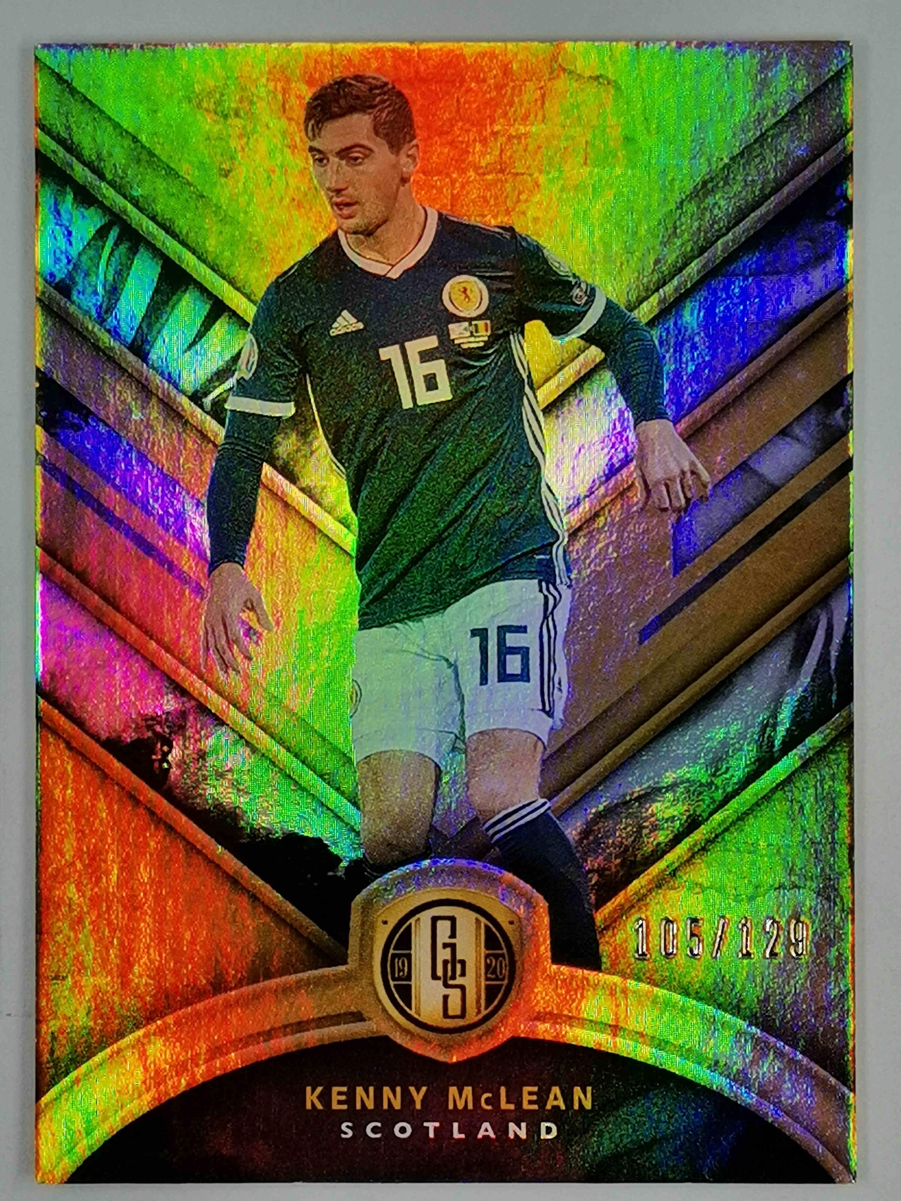 【普拉蒂尼】2019 Panini 金砖 球星卡 肯尼斯·麦克莱恩 Kenny McLean 苏格兰 Base 105/129编 NO.65 普卡