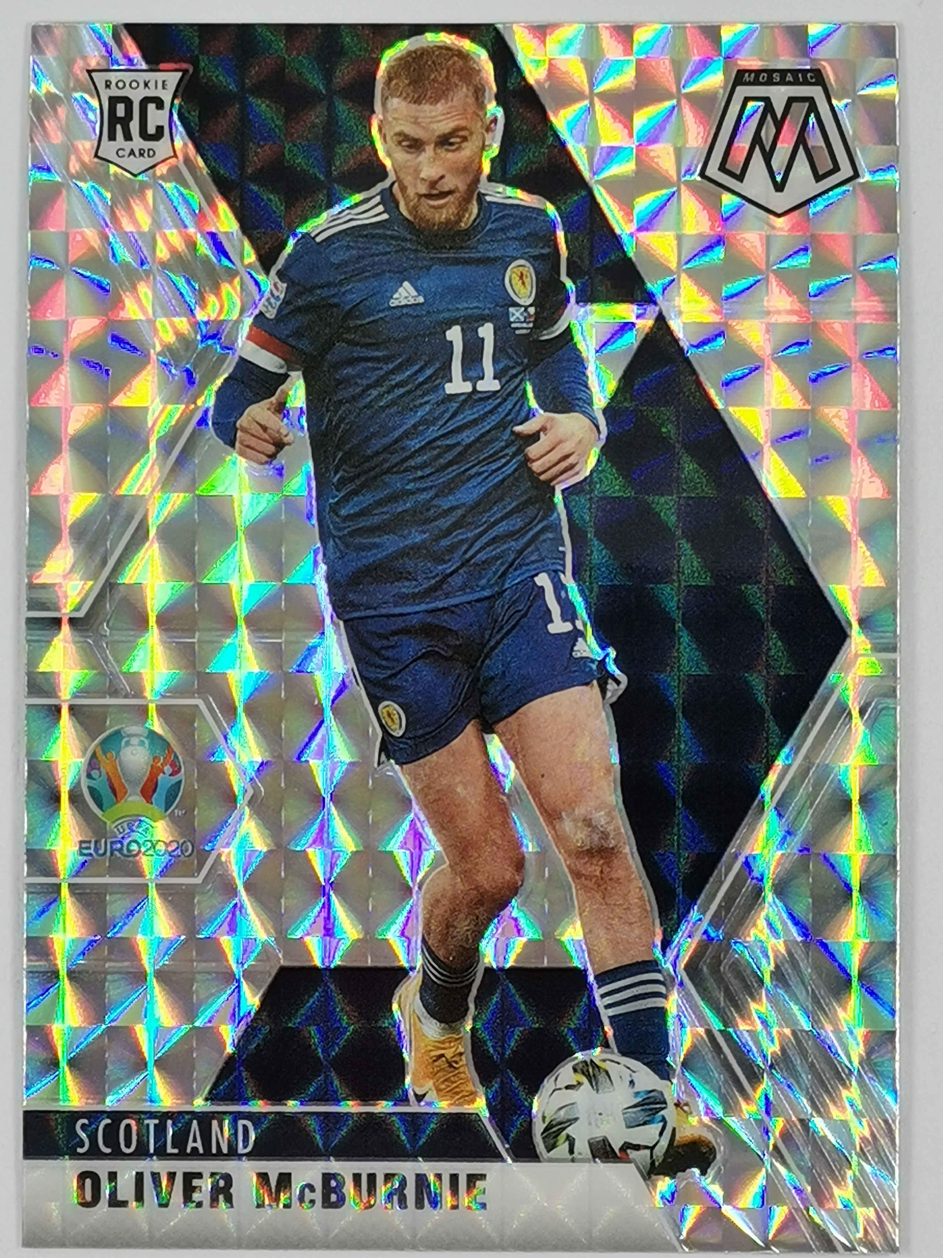 【起名太难】2021 Panini 欧洲杯马赛克 球星卡 麦克伯尼 Oliver McBurnie 苏格兰 Base 马赛克折 无编 NO.78 普卡