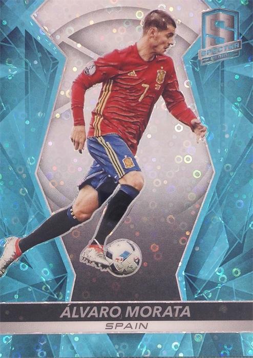 【自若清风】2016Panini帕尼尼光谱足球球星卡Alvaro Morata莫拉塔西班牙18/75NO.23基础卡
