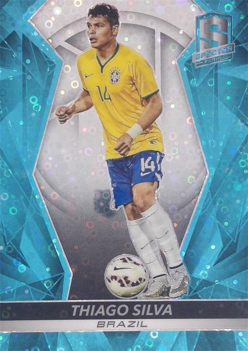 【自若清风】2016Panini帕尼尼光谱足球球星卡Thiago Silva蒂亚戈·席尔瓦巴西63/75NO.61基础卡